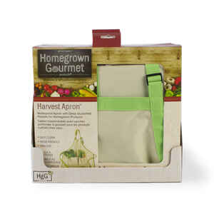 Homegrown Gourmet  Tan/Green  Cotton  Harvest Apron