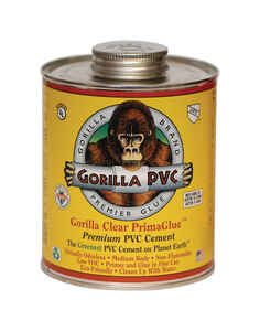 Gorilla PVC  PrimaGlue  Clear  Primer and Cement  For PVC 4 oz.