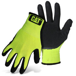 CAT Unisex Indoor/Outdoor Dipped Gloves High-Vis Green L 1 pair