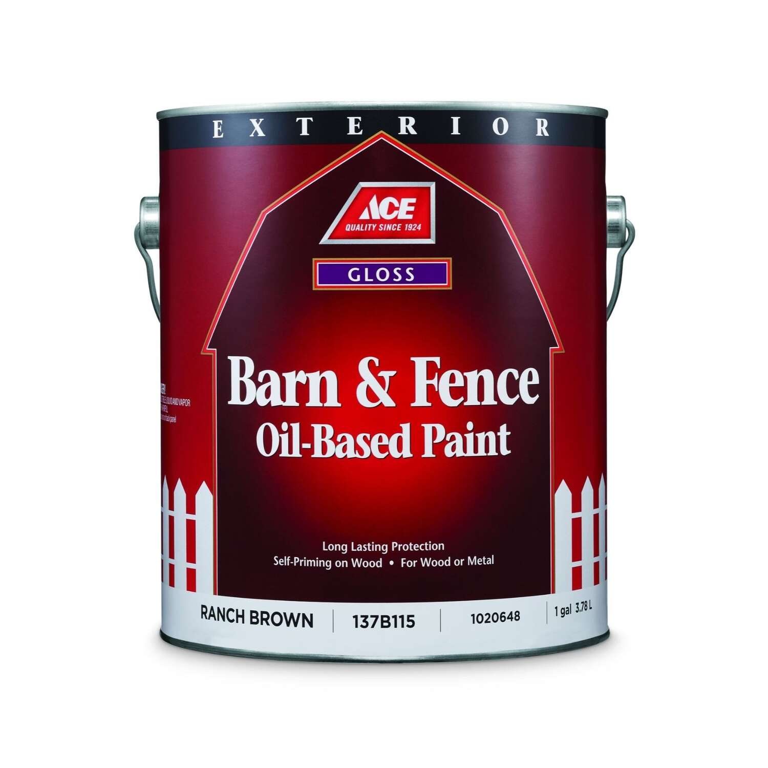 Ace  Gloss  Ranch Brown  Oil-Based  Oil-Based  Barn and Fence Paint  Exterior  1 gal.