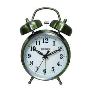 Westclox  4 in. Silver  Alarm Clock  Analog