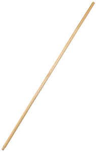 Contek  60 in. L Wood  Threaded  Broom Handle