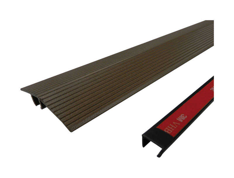 M-D Building Products  Cinch  36 in. L Prefinished  Brown  Aluminum  Reducer Transition Strip