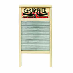 Maid-Rite  12-7/16 in. W x 23.75 in. L Washboard  Metal Scrub Surface
