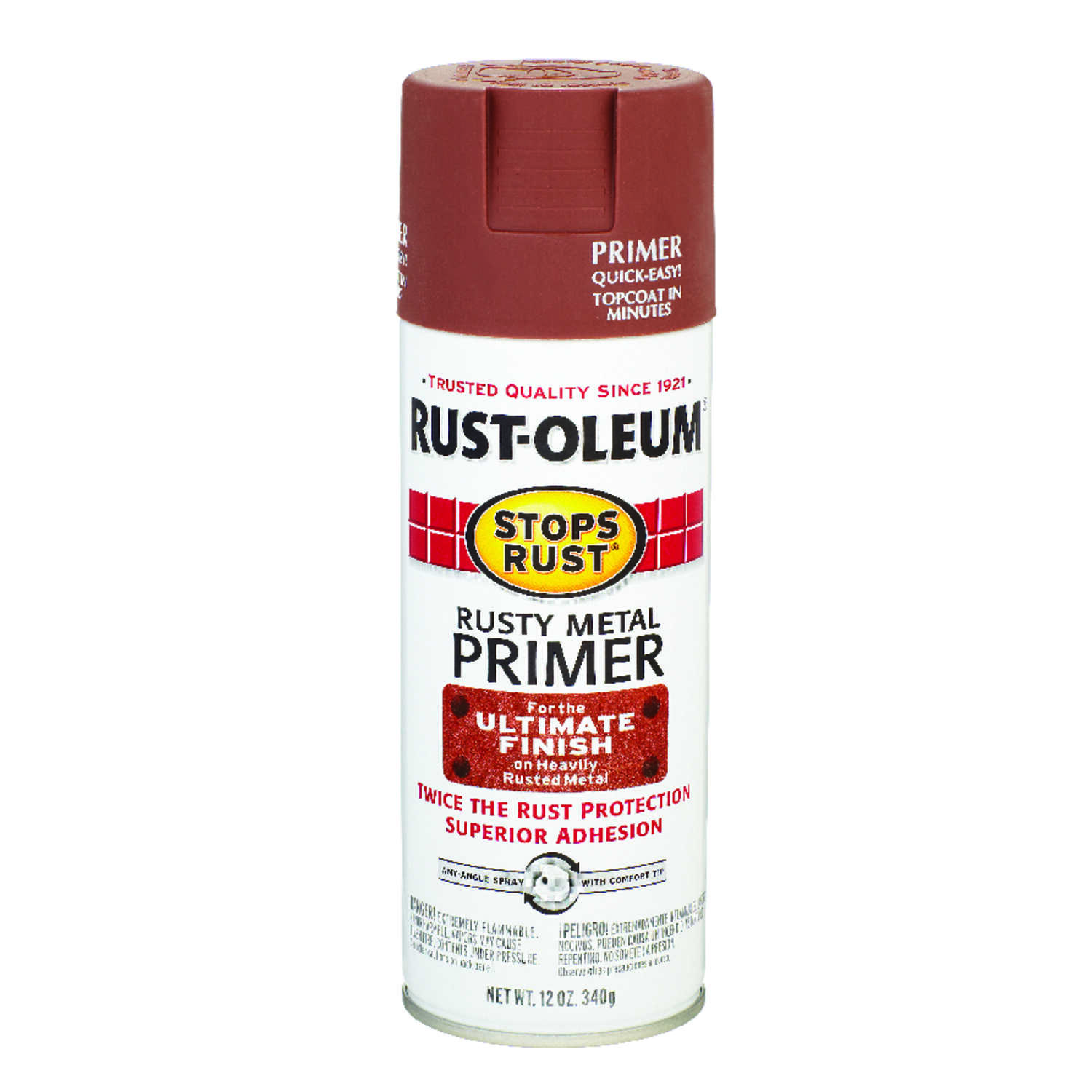Rust-Oleum  Stops Rust  Brown  Primer  For Metals 12 oz.