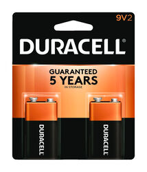 Duracell  Coppertop  9-Volt  Alkaline  Batteries  2 pk Carded