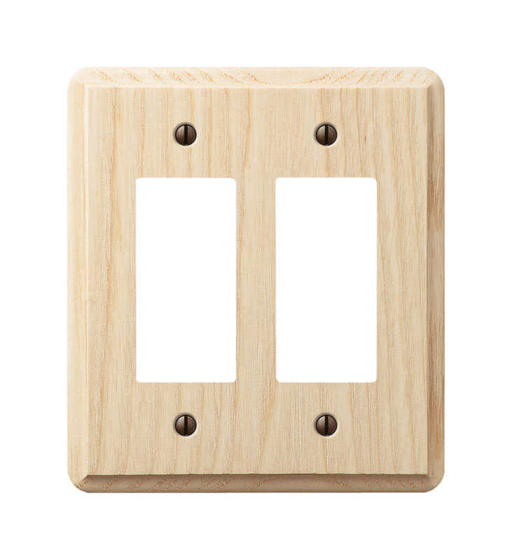 Amerelle  Contemporary  Unfinished  2 gang Wood  Rocker  Wall Plate  1 pk