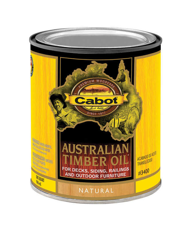 Cabot  Transparent  Natural  Deep Base  Australian Timber Oil  1 qt.