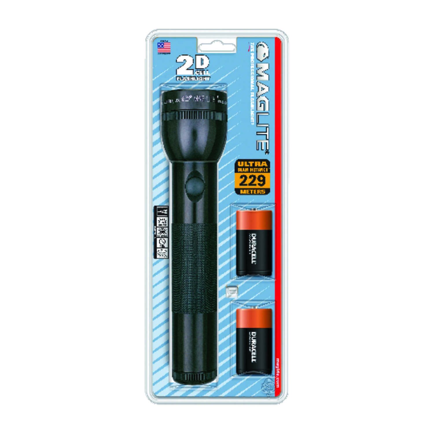 Maglite  19 lumens Black  Xenon  Flashlight  D Battery