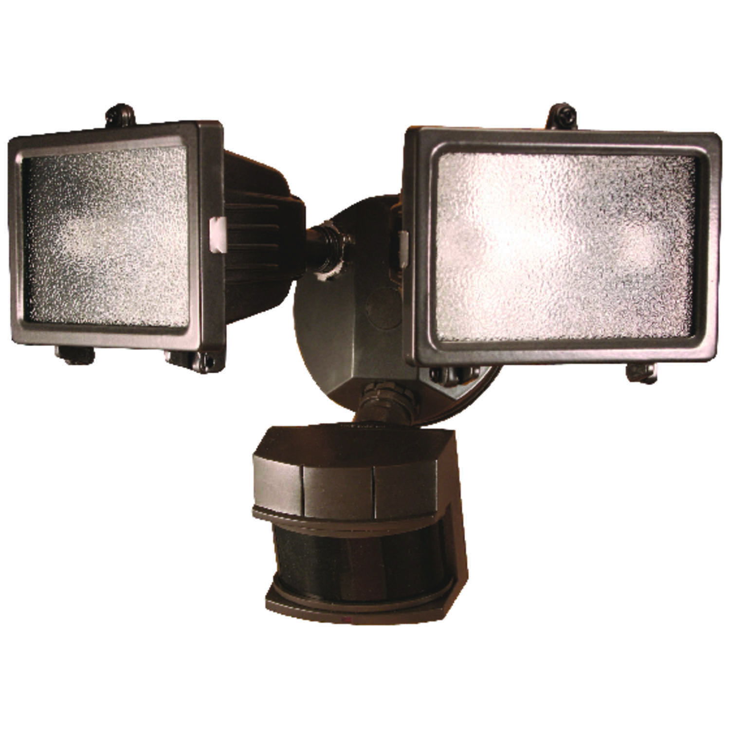 Heath Zenith  Hardwired  Security Light  Motion-Sensing  Metal  Bronze