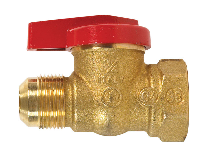 B & K  Gas Ball Valve  15/16 in. Flare   x 3/4 in. Dia. FPT  Brass  One Piece