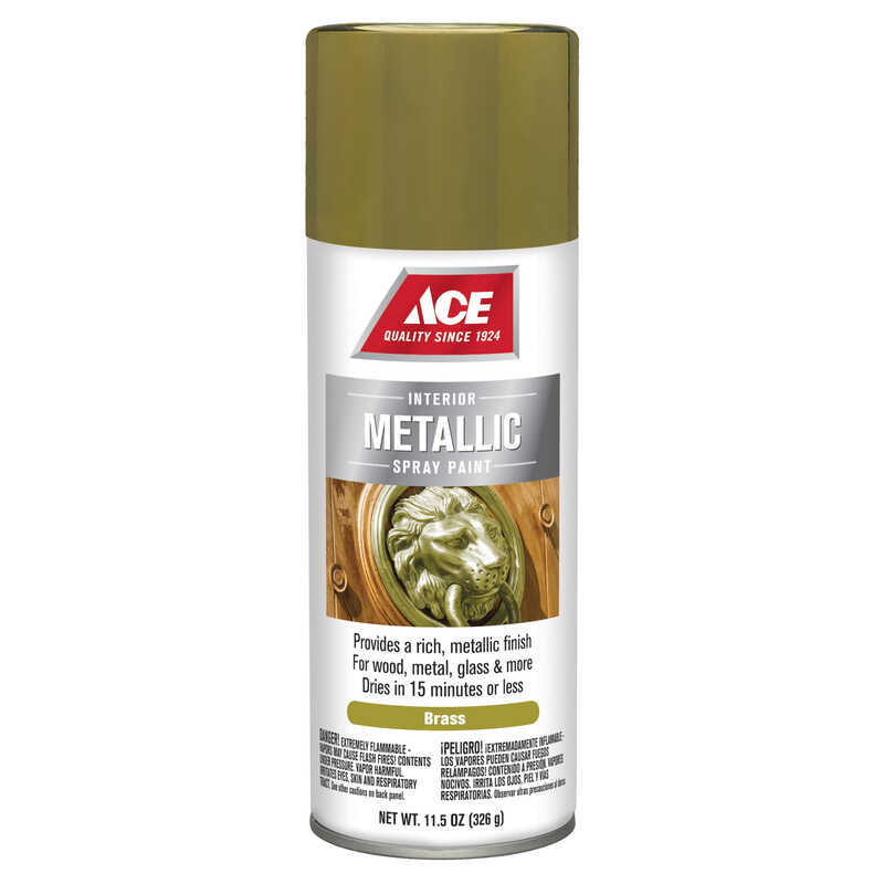 Ace  Brilliant  Brass  Spray Paint  11.5 oz.