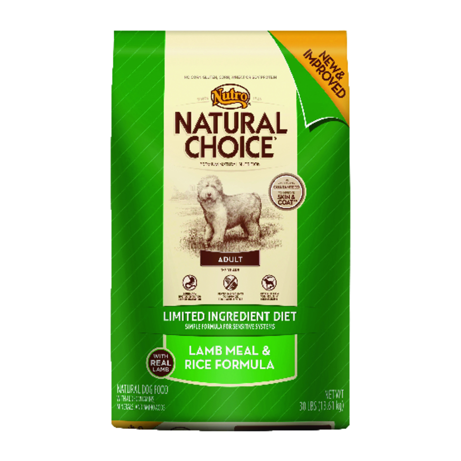 Nutro  Natural Choice Limited Ingredient  Lamb and Rice  Dry  Dog  Food  30