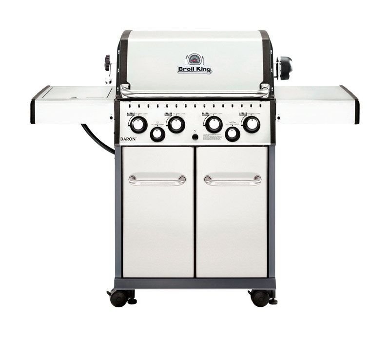 Broil King  Baron S490  4 burners Propane  Stainless Steel  Grill  40000 BTU