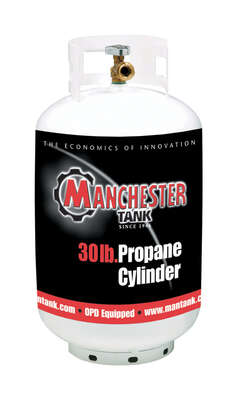 Manchester Tank  30 lb. Steel  Type 1  Propane Cylinder