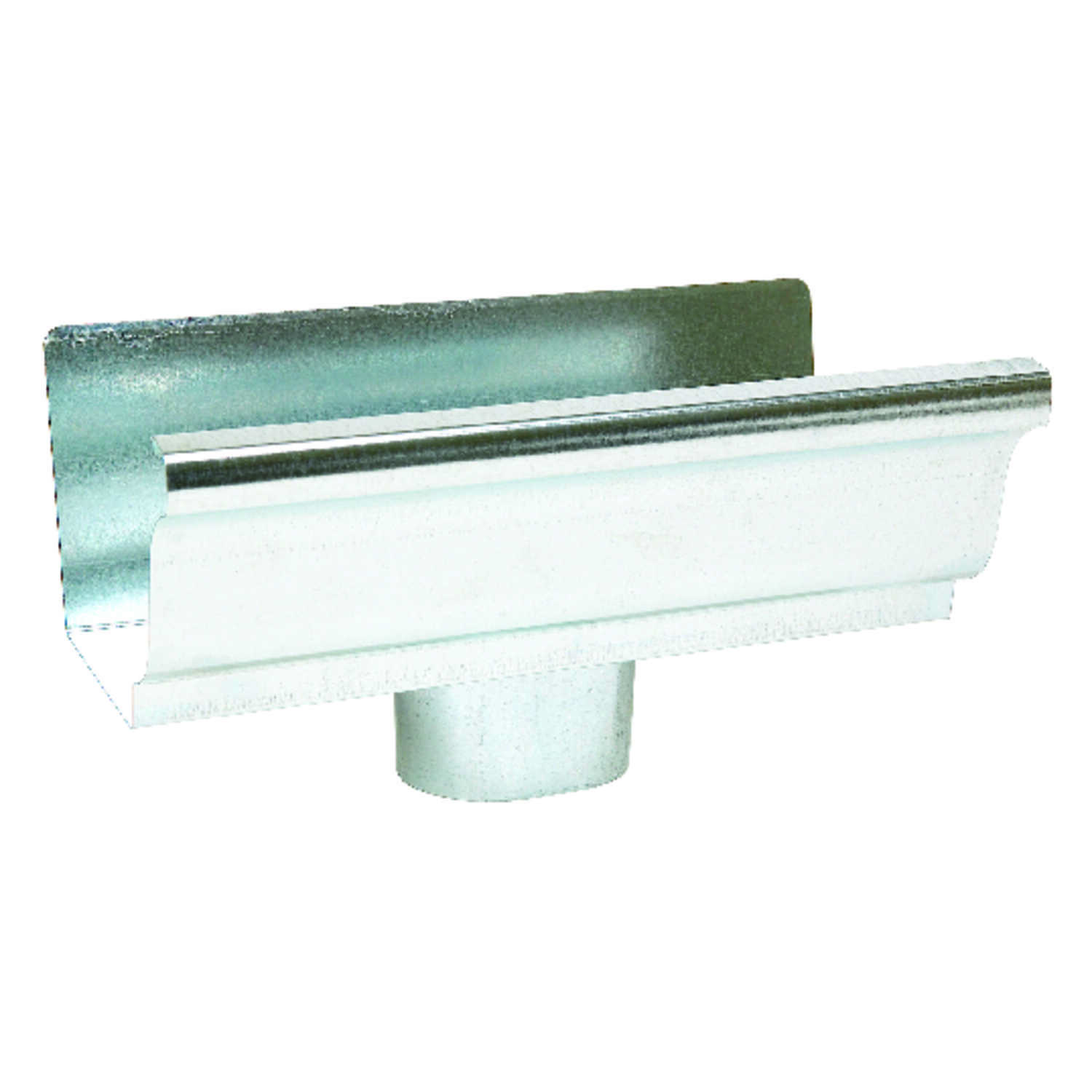 Amerimax  4.5 in. H x 4.5 in. W x 8 in. L Metallic  Galvanized Steel  K  Gutter Drop Outlet