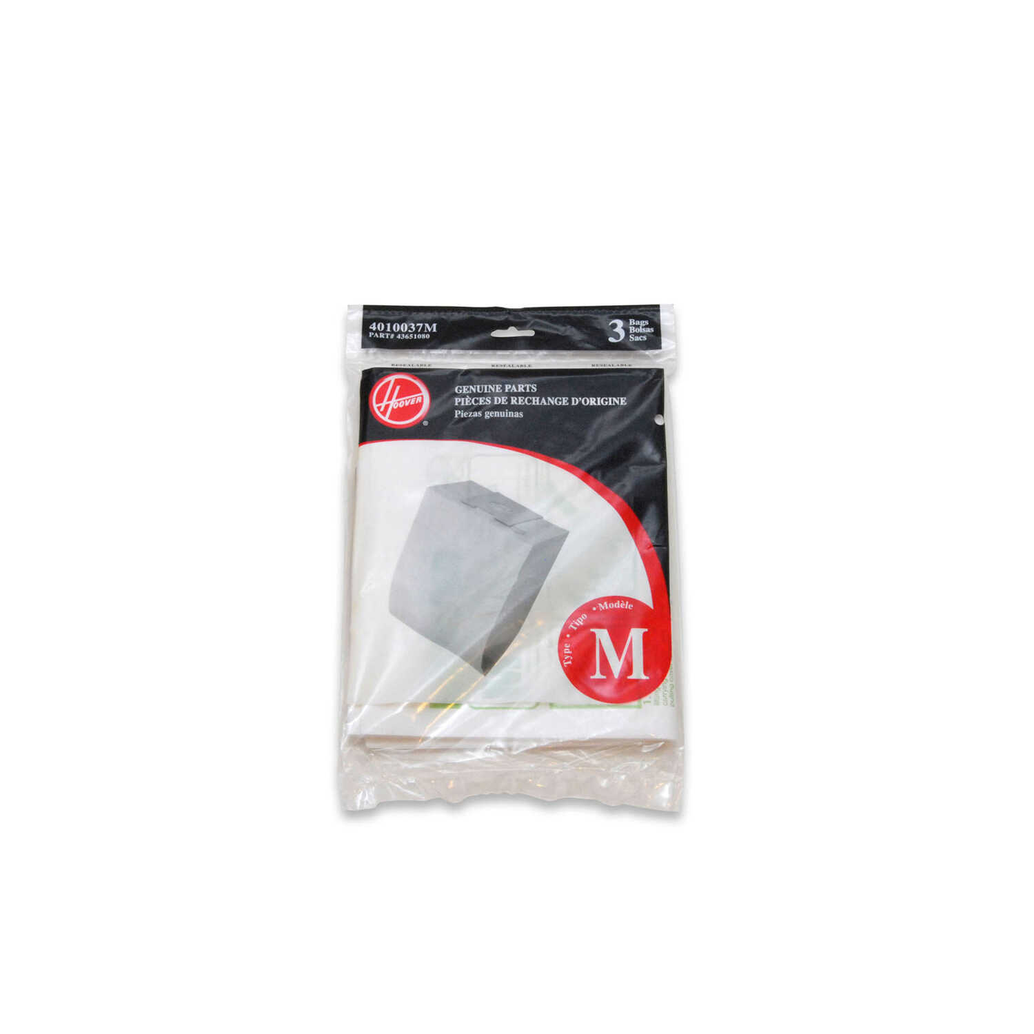 Hoover  Vacuum Bag  For Fits Hoover Dimension Canister Cleaners. 3 pk
