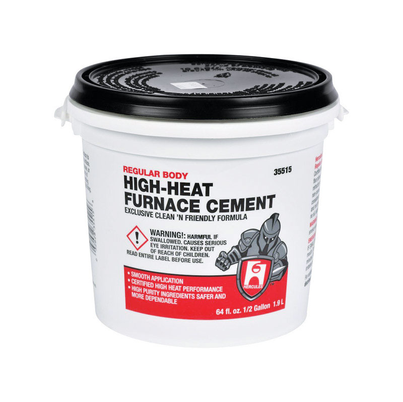 Hercules  Oatey  White  High Heat Furnace Cement  1  For Furnace