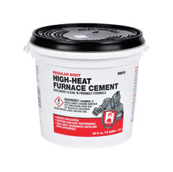 Hercules  Oatey  White  High Heat Furnace Cement  For Furnace 1