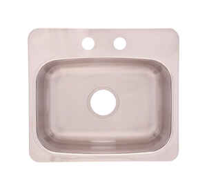 Franke  Stainless Steel  Dual Mount  19-1/8 in. W x 17 in. L One Bowl  Bar Sink