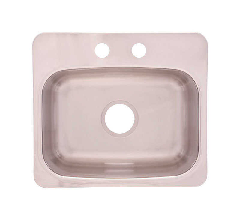 Franke  Stainless Steel  Dual Mount  19-1/8 in. W x 17 in. L Bar Sink