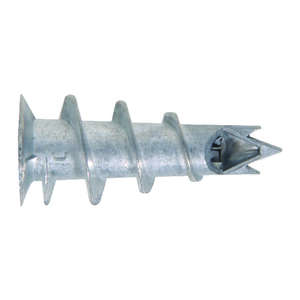 HILLMAN  .164 in. Dia. x 1 1/4 in. L Round Head Wallboard Anchors  Zinc  100 pk