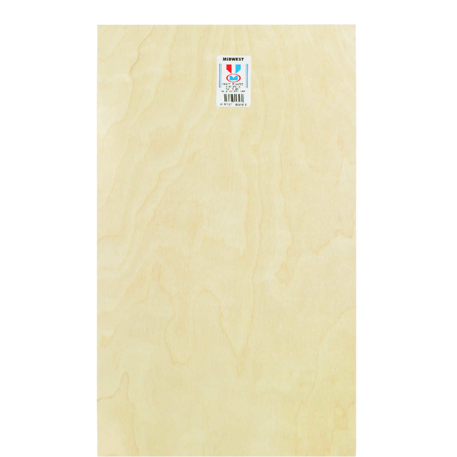 Midwest Products  12 in. W x 24 in. L x 1/4 in.  Plywood