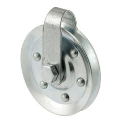 Prime-Line 3 in. Dia. Steel Pulley /Strap and Bolt