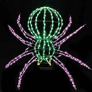 Santa's Best  LED Spider  Lighted Halloween Decoration  28 in. W