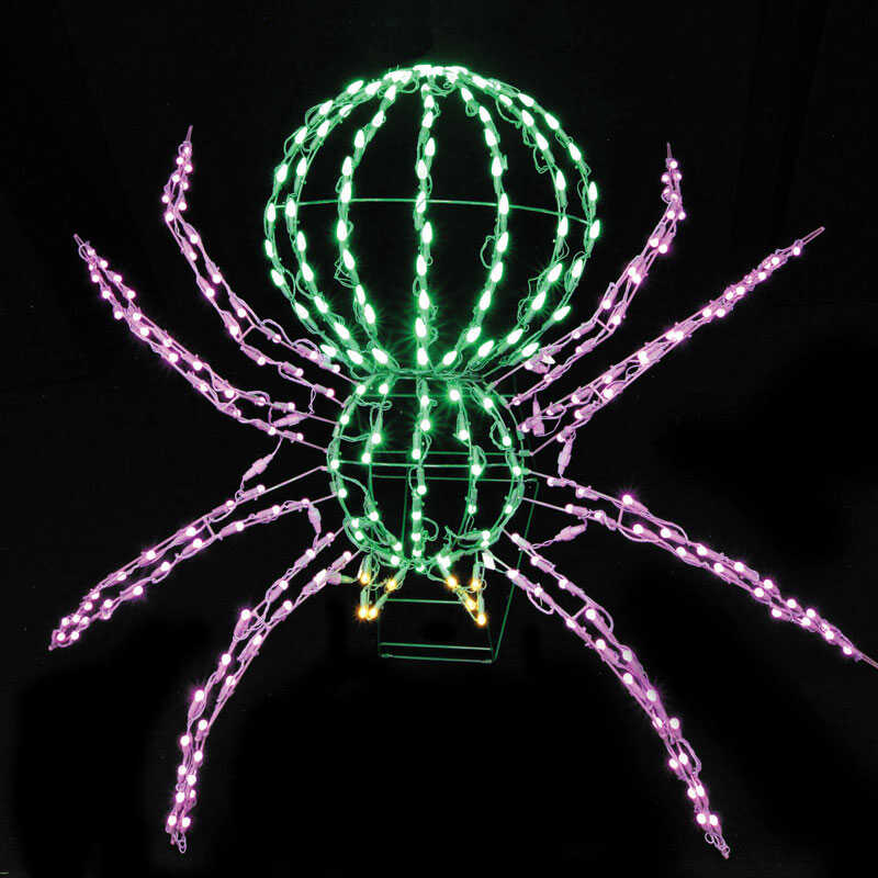 Santa's Best  LED Spider  Lighted Halloween Decoration  28 in. W x 40 in. L