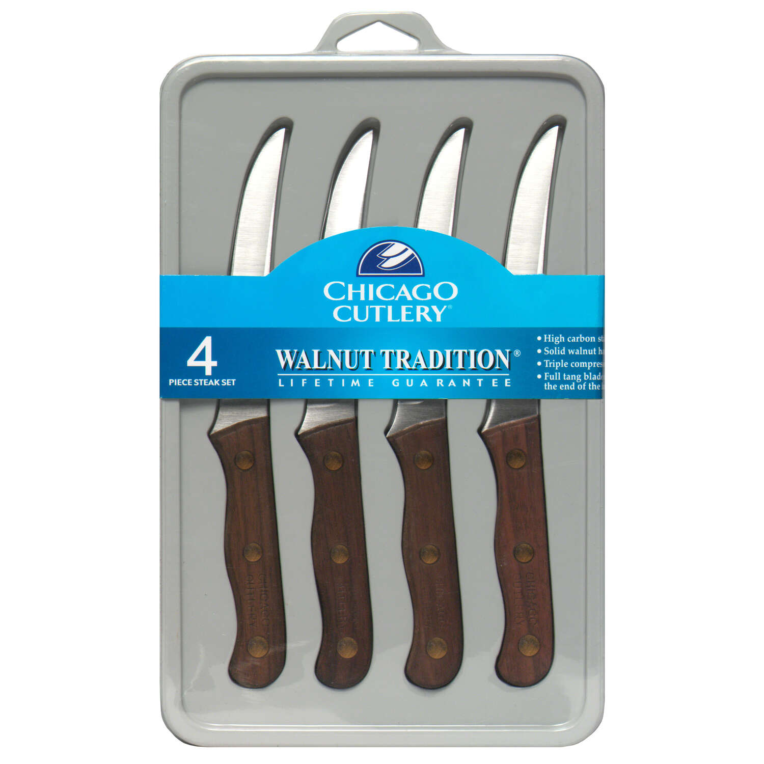 Chicago Cutlery  4 in. L Stainless Steel  Steak Knife  4 pc.