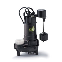 ECO-FLO  3/4 hp 6000 gph Cast Iron  Vertical Float Switch  AC  Bottom  Submersible Sump Pump