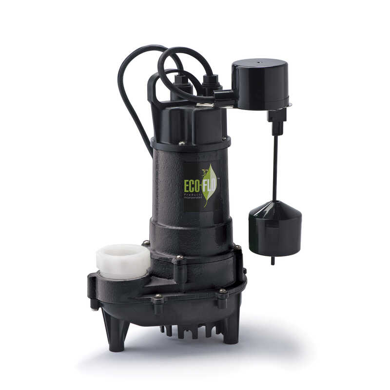 Ecoflo  3/4 hp 6000 gpm Cast Iron  Submersible Sewage Pump