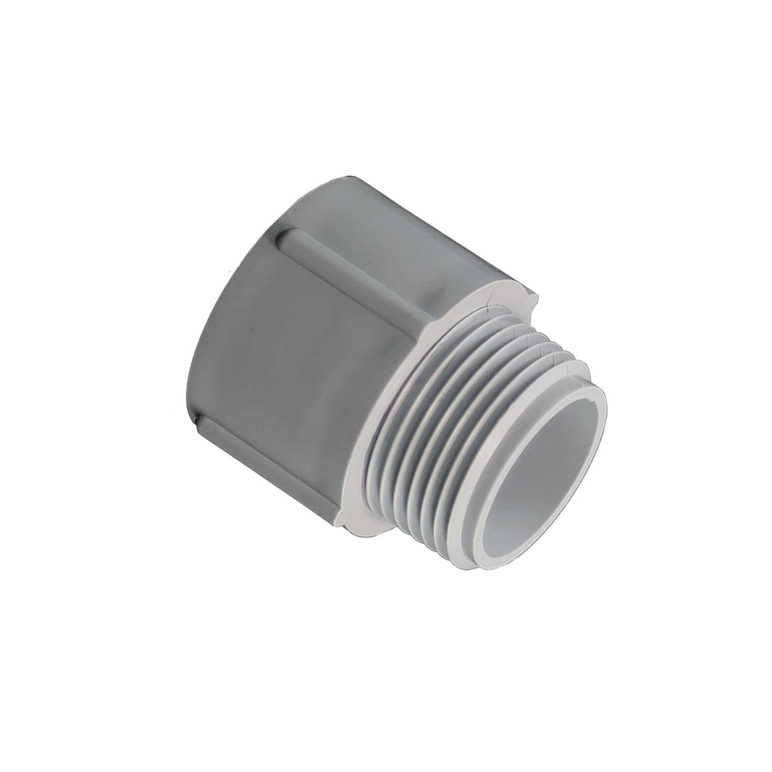 Cantex  1/2 in. Dia. PVC  Male Adapter  For PVC
