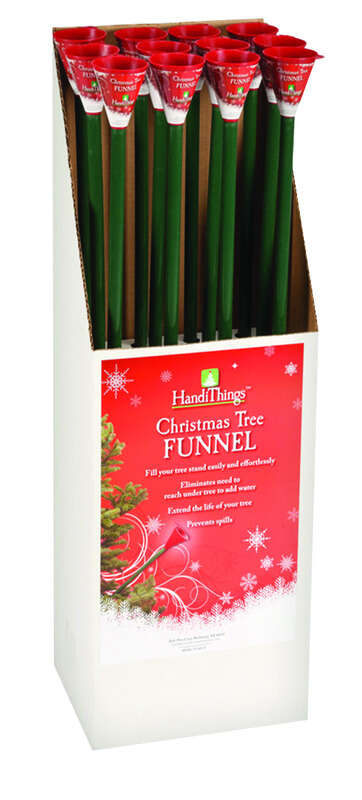 Jack-Post  Plastic  Green  Christmas Tree Watering Funnel