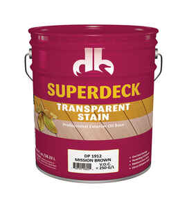 Superdeck  Transparent  Mission Brown  Oil  Wood Stain  5 gal.