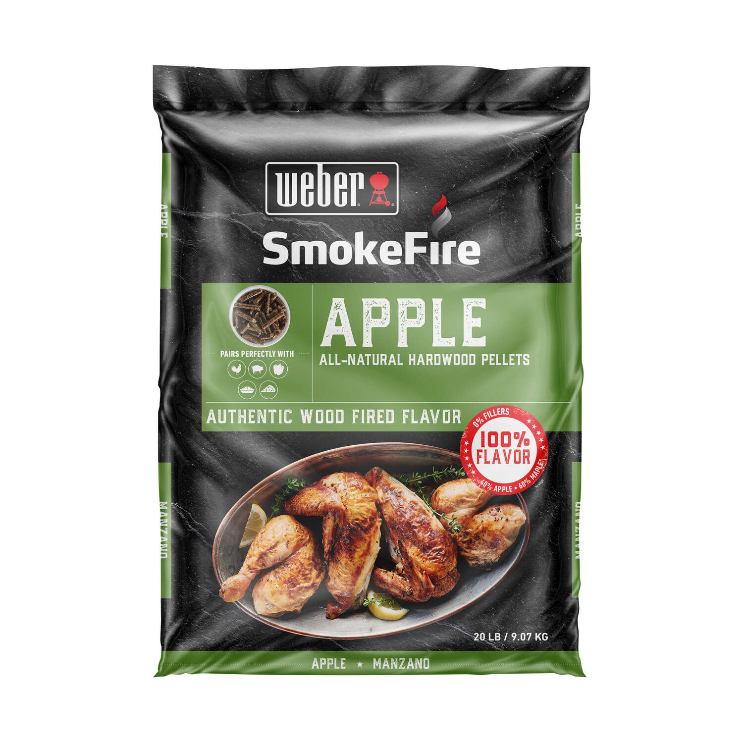 Weber SmokeFire Apple Hardwood Pellets 20 lb.