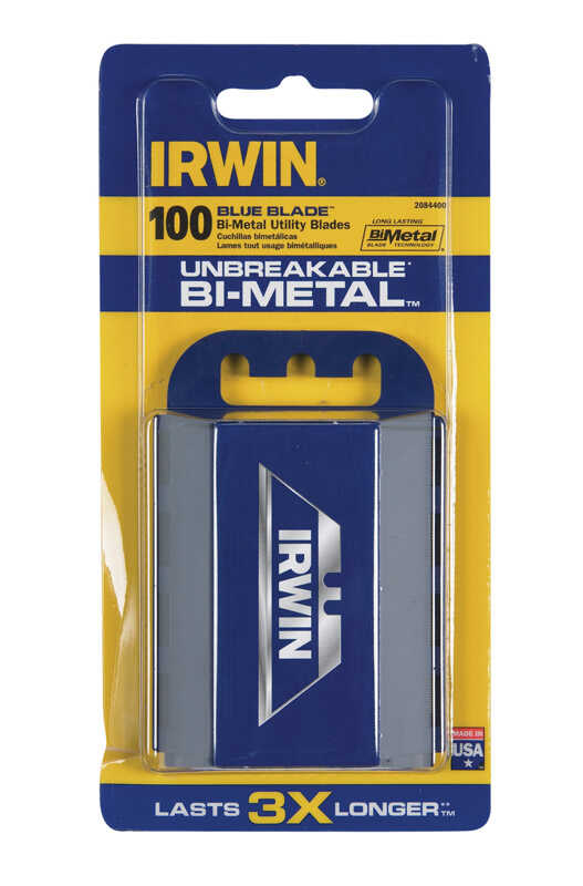 Irwin  2.5 in. L x 0.05 in.  Bi-Metal  Heavy Duty  Blade Dispenser with Blades  100 pc.
