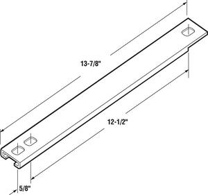 Prime-Line  White  Casement Window Track  2 pk