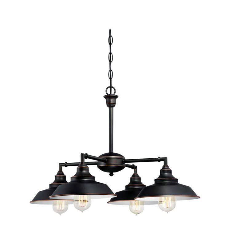 Westinghouse  Iron Hill  Oil Rubbed Bronze  Brown  4 lights Chandelier