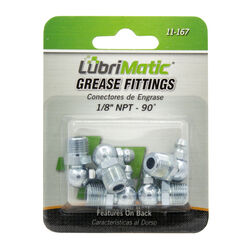 Lubrimatic  90 degree  Grease Fittings  5 pk