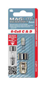 Maglite  Mag-Num Star II 6-Cell C& D  Xenon  Flashlight Bulb  Bi-Pin Base