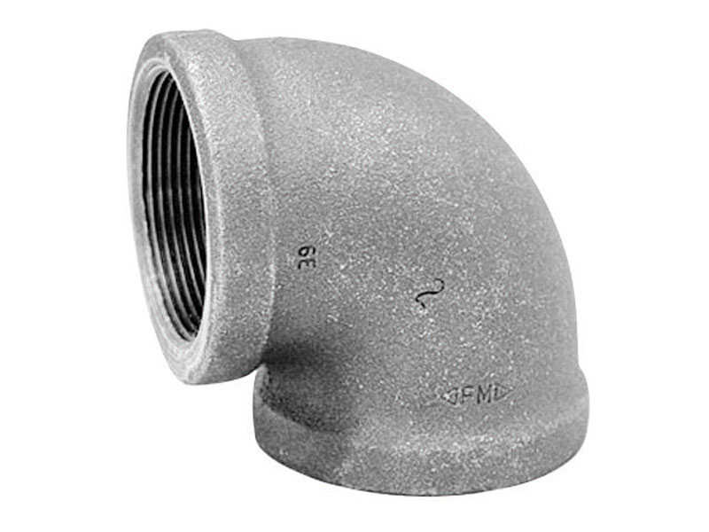 Anvil  3/8 in. FPT   x 3/8 in. Dia. FPT  Black  Malleable Iron  Elbow