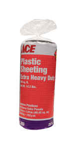 ACE  Plastic Sheeting  6 mil  x 20 ft. W x 25 ft. L Polyethylene  Black
