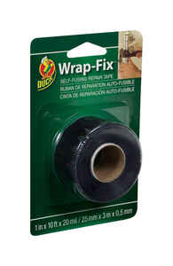 Wrap-Fix  1 in. W x 10 ft. L Black  Vinyl  Self-Sealing Tape