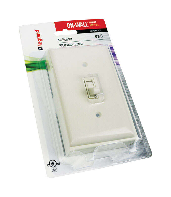 Wiremold  1-1/8 in. 1 Gang  Rectangle  Ivory  Plastic  Outlet Box
