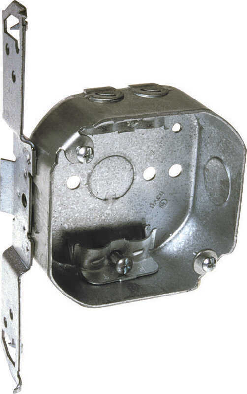 Raco  Octagon  1 Gang  1 gang Junction Box  Gray  Steel  7 in.