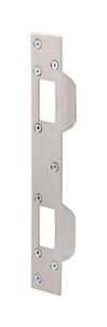 Prime-Line  11 in. H x 5-1/2 in. L Satin Nickel  Steel  Door Strike