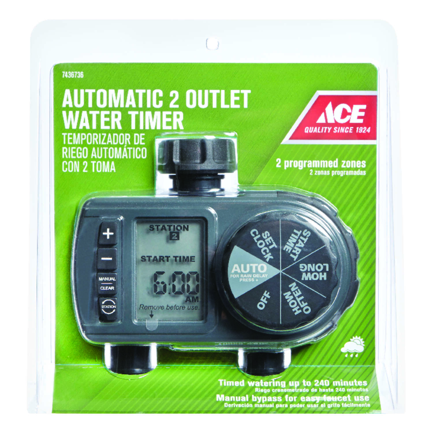 Ace  Programmable 2 zone Water Timer