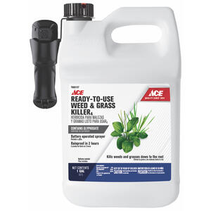 Ace  Battery Wand  Weed and Grass Killer  RTU Liquid  1 gal.